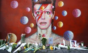 Il murale di David Bowie a Brixton, quartiere di nascita dell'artista, foto: Carl Court/Getty Images