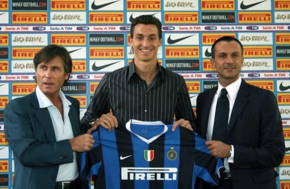 Calciomercato 2006, Zlatan Ibrahimovic presentato all'Inter, foto: ansa