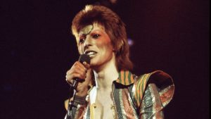David Bowie durante il tour di Aladdin Sane, foto: Michael Putland/Getty images