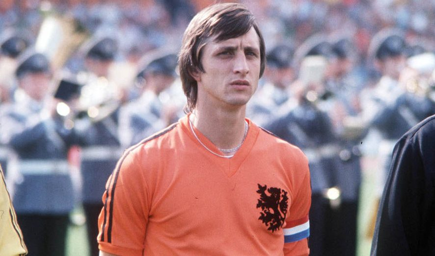 Johan Cruijff, foto: Popperfoto/Getty Images