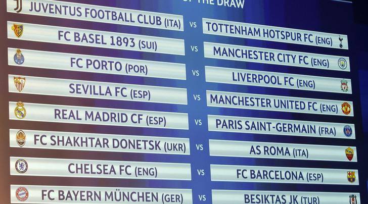 Sorteggi Champions League. Foto: EPA