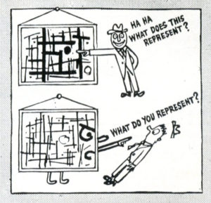 Ad Reinhardt, Dettaglio di How to Look at a Cubist Painting.