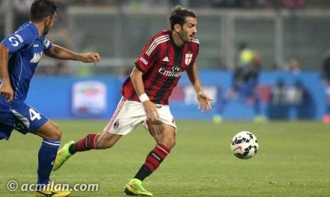 Riccardo Saponara (Fiorentina) con la maglia dell'AC Milan