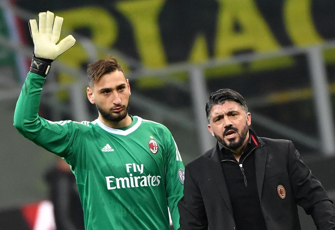 Gianluigi Donnarumma e Gennaro Gattuso
