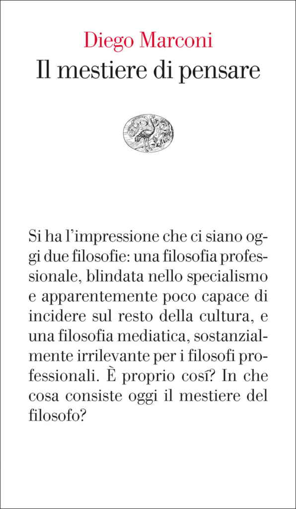 Diego Marconi, Il mestiere di pensare