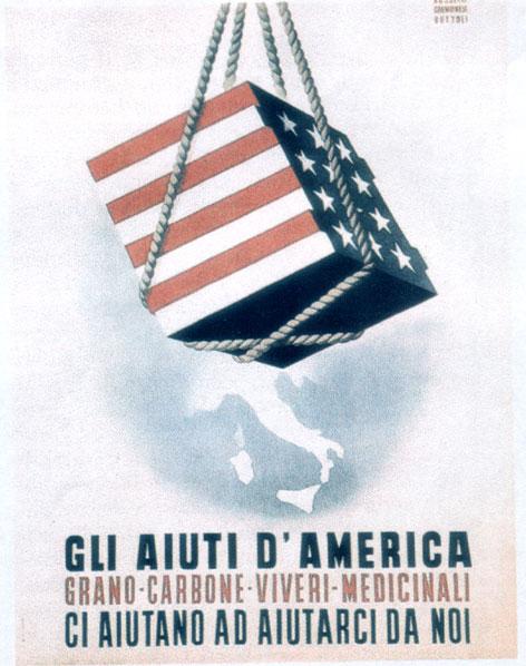 Tra il 1948 e il 1952 gli aiuti del Piano Marshall ammontarono a 1,5 miliardi di dollari, di cui il 20,6% era costituito da macchinari, veicoli, ferro e acciaio.