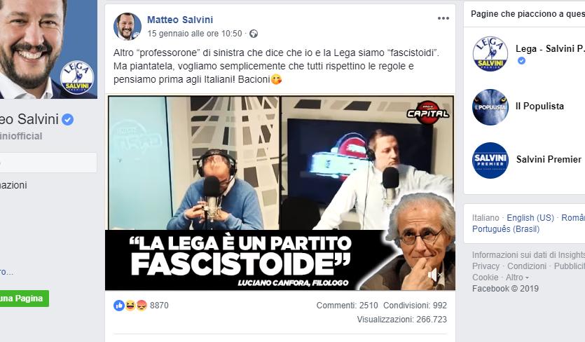 Il linguaggio che usa Salvini testimonia la sua nuova idea di italianità