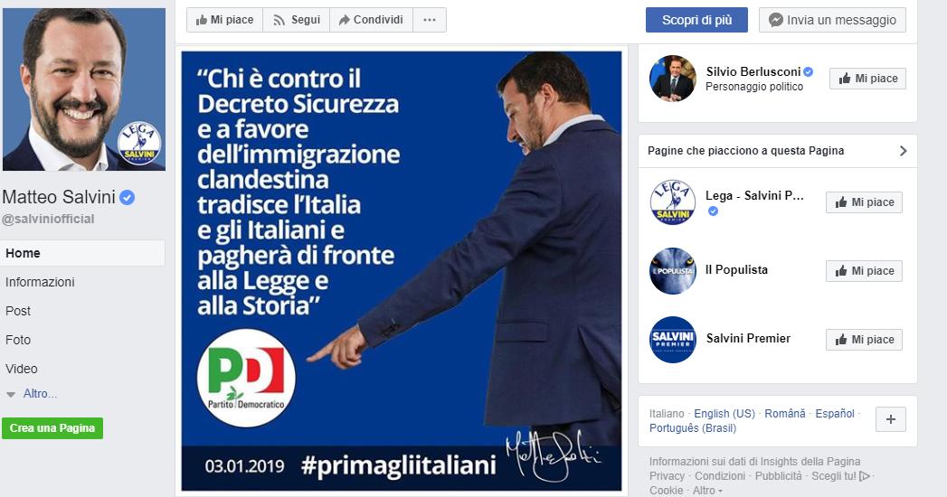 i traditori di Salvini non rientrano nella nuova italianità