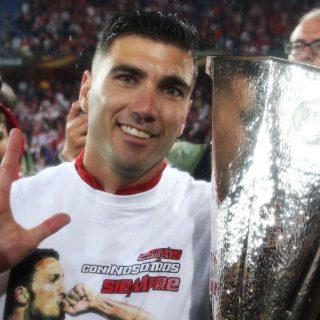 José Antonio Reyes, vincitore della Coppa UEFA/Europa League per cinque volte. Unico ad esserci riuscito nella storia del calcio. Foto: Getty Images.