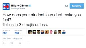 hillary clinton emoji tweet