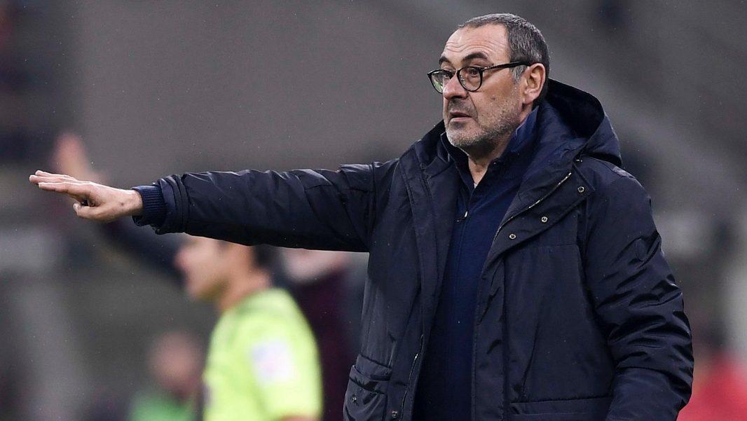 Maurizio Sarri, allenatore della Juventus, in occasione della partita Milan-Juventus. Foto: twitter.com/juventusfc